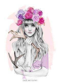Ilustraciones de Kelly Smith #illustration #Woman