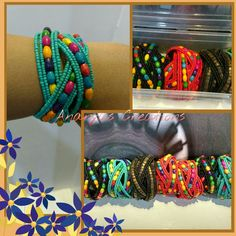 Wooden beads bracelets