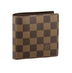 Louis Vuitton Damier Ebene Canvas Marco Wallet N61675
