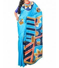 Navy Blue Pure Matka Silk saree