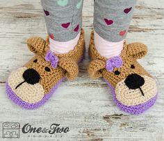 Ravelry: Teddy Bear Booties - Child Sizes crochet pattern by Carolina Guzman