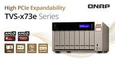A QNAP bemutatja a TVS-x73X 4/6/8 rekeszes NAS-t AMD RX-421BD Quad-core APU-val, duál PCIe és M.2 slotokkal, valamint 4K video átkódolás és visszajátszás támogatással