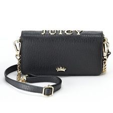 Juicy Couture Sylvia Wallet Crossbody Bag - Black (wallet to go with backpack)