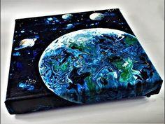 Fluid Acrylic Pouring Tutorial#11# Space, Kosmos Obraz wylewany - YouTube