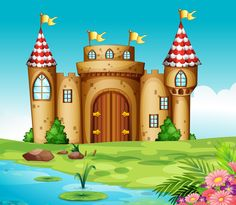 Illustration of a castle and a knight Background Pictures, Paper Background, Nature Vector, Blog Backgrounds, Nature Posters, Paper Dolls Printable, Pics Art, Abstract Nature, I Wallpaper