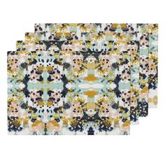 Lamona Cloth Placemats featuring sloane abstract painterly painting design for decor, kids design by charlottewinter | Roostery Home Decor
