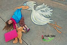Photo 1 of 9 in Chalk Tales Chalk Photography, Children Photography, Chalk Pictures, Chalk Design, Photo Souvenir, Sidewalk Chalk Art, Chalk Drawings, Jolie Photo, Outdoor Art