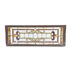 largely intact c. 1900-10 late american victorian era residential stained glass window with french bevel cut center