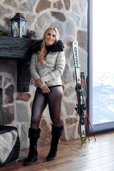Lindsey Vonn Signature collection for ski lodge apparel.