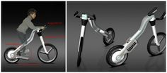 Taurus Seat-less Bike by Julia Meyer - designed in a way where, when on the bike,  your body will be tilted in a way that puts your legs into a perfect position for a great workout. This bicycle is designed for children, so that your kids can become health and fitness conscious.