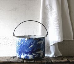 enamel bucket by tribute212 on Etsy, $65.00