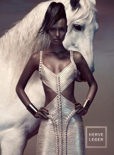 Fatima Siad for Hervé Léger/ Campaign SS 2012/ Silver