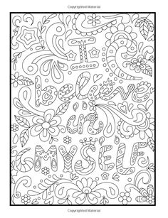 Amazon Inspirational Quotes An Adult Coloring Book With Motivational Sayings Positive