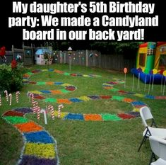 So cute. Hubby would kill me for painting the grass but super cute