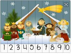 knihydetstva: 23.deň - Detský adventný kalendár Christmas Puzzle, Christmas Mood, Kids Christmas, Christmas Ornaments, Montessori Activities, Kindergarten Activities, Craft Activities, Christmas Activities For Kids, Preschool Christmas