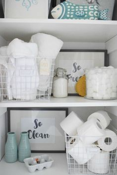 How to organize your bathroom when extra guests come by - Nesting With Grace Laundry Room Lighting, Laundry Room Layouts, Laundry Room Organization, Laundry Room Sink, Organization Ideas, Homemade Cleaning Supplies, Cleaning Tips, Laundry Room Inspiration, Guest Bath