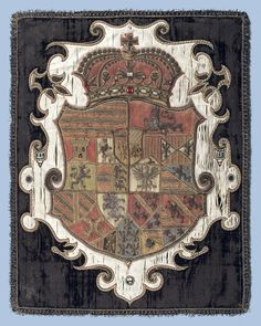 Funerary armorial banner for Constance of Austria, Queen Consort of Poland and Lithuania. These being the arms of her father, Charles II, Archduck of Austria