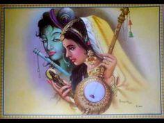 India Hindu Religious God Krishna With Meera Print Krishna Songs, Radha Krishna Love Quotes, Radha Krishna Images, Lord Krishna Images, Krishna Radha, Hanuman, Spiritual Warfare Prayers, Krishna Painting, Asian Art