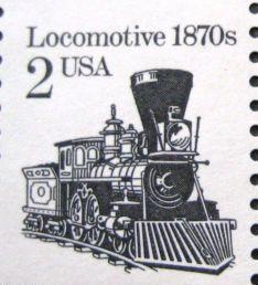 Scott 1887A 1982 2c Locomotive 1870's