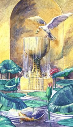Ace of Cups, watercolors, 11 x 14 inches