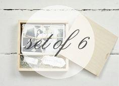 """SET 6 - Foto & USB-Boxen für 4"""" x 6"""" (10x15cm) Drucke und Usb-flash-Laufwerk mit Fach innen, Hochzeit-Box, Verpackung für Fotografen"""