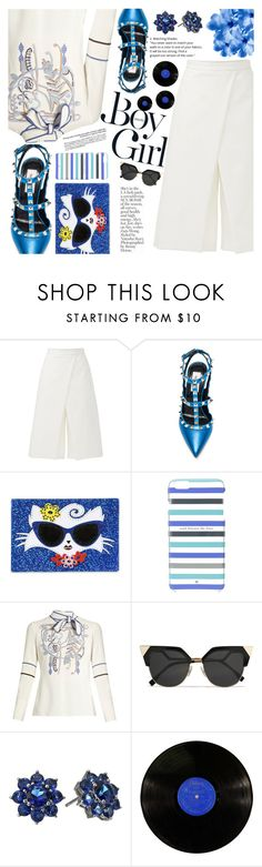 """""""Untitled #1920"""" by anarita11 ❤ liked on Polyvore featuring TIBI, Karl Lagerfeld, Kate Spade, Peter Pilotto, Boy Meets Girl, Fendi and Nina"""