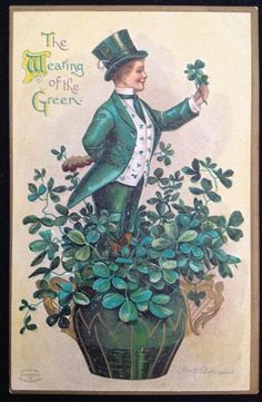 Lot 2 Vintage Antique St Patrick's Day Postcard Ellen Clapsaddle Embossed C1910 | eBay