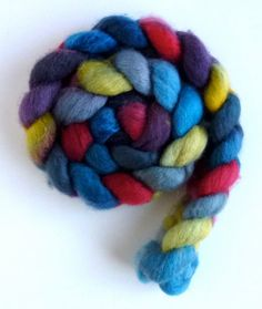 BFL Wool Roving  Hand Painted Spinning or by threewatersfarm, $17.95