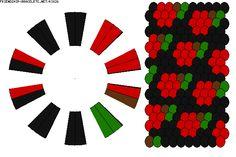 K3826 - friendship-bracelets.net 20 strings. 4 colours