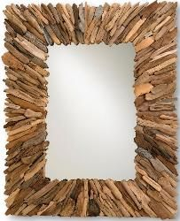 Coastal Nautical Mirrors Driftwood Mirror Tropical Decor Living