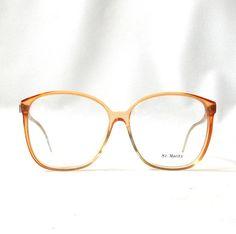 vintage 1980's NOS st moritz eyeglasses by RecycleBuyVintage Retro Eye Glasses, Tinder Match, St Moritz, Peach Orange, Optical Frames, Eyeglasses, 1980s, Eyewear, Trending Outfits