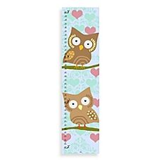 image of Green Leaf Art Owls & Hearts Growth Chart