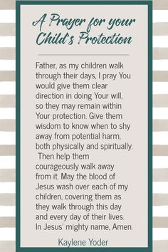 Prayer For My Son, Prayer For My Children, Praying For Your Children, Prayer For Family, Childrens Prayer, Mom Prayers, Bible Prayers, Prayer Scriptures, Prayer Quotes