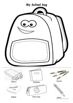 Back to school #printable: cut and paste school supplies