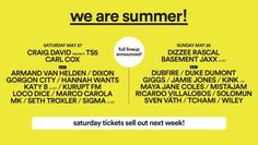 Damyns Hall Aerodrome in Upminster is the place to be if you want to see the likes of Craig David, Carl Cox, Dizzee Rascal and Basement Jaxx this May 27-28th, as We Are FSTVL returns.  They are sure to sell out fast, so pick up your We Are FSTVL tickets here: http://festivallers.co.uk/wearefstvl