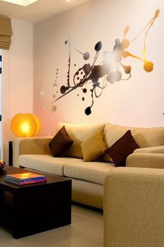Liquid Abstract Reflective Wall Decal by WALLTAT.com