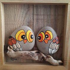 Tableau oiseaux • GALETS • PEBBLES • BIRDS •