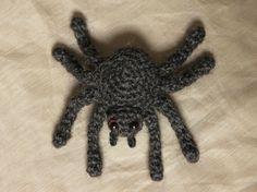 Free crochet spider pattern by Sonja van der Wijk