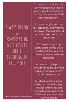Struggling with how to end a conversation with your ex? Here are 5 ways. - Struggling with how to end a conversation with your ex? Here are 5 ways. Step Parenting, Single Parenting, Parenting Quotes, Parenting Advice, Parenting Classes, Parenting Styles, Single Parent Quotes, Narcissist Father, Parallel Parenting
