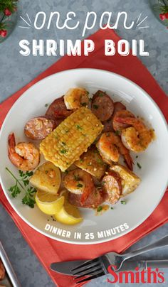 Head to the bayou in 25 minutes of total prep and cook time. This recipe takes all the hallmarks of a traditional shrimp boil and makes it totally feasible for any home chef. To make it truly traditional, serve it spread out on a paper-covered table and dig in.