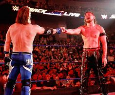 AJ Styles and Shinsuke Nakamura Aj Styles Wwe, Balor Club, Eddie Guerrero, Catch, Kenny Omega, Wwe Roman Reigns, Kevin Owens, Wwe Tna, Wwe Champions