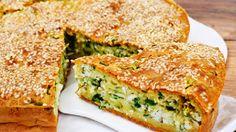 Пирог с зеленым луком и курицей