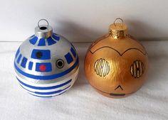 Adornos de Navidad Star Wars. #adornosnavidad #adornosnavidadoriginales #navidad #christmas #adornosnavidadgeek #starwars #r2d2 #c3po