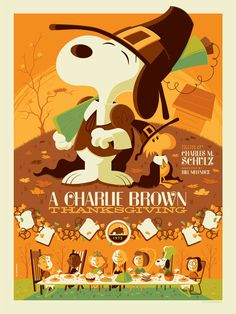 543e078268 A Charlie Brown Thanksgiving print by Tom Whalen - Available October 2 from  DarkHallMansion.com