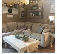 Our Salonne sectional is looking right at home in cozy living room. 🌿🌿🌿 Shop it at the link in our bio. Diy Home Decor Living Room, Cute Living Room, Living Room Remodel, Cozy Living Rooms, Home And Living, Living Room Designs, Modern Living, Ashleys Furniture Living Room, Modern Room