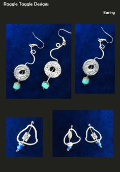 A commission of two pairs of earrings recently completed Crochet Earrings, Jewelry Design, Pairs, Fashion, Moda, Fashion Styles, Fasion