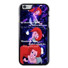 Disney Ariel Mermaid Quote iPhone 6 Case