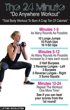"The 24 Minute ""Do Anywhere"" Workout That Burns A Crap Ton Of Calories"