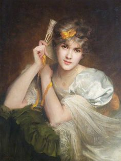 Portrait of an Unknown Woman with a Fan, Beatrice Offor