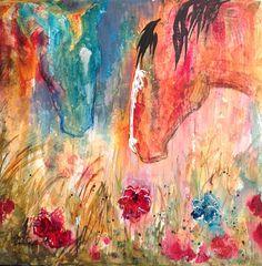 """Flower Field"" by Caren Goodrich. 24""x24"" acrylic."
